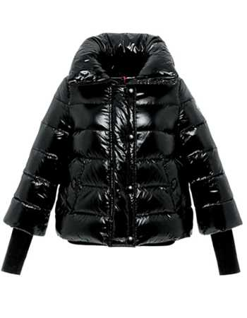 Moncler Tulsa Down Jackets Women Rib Long Sleeve Collar Black