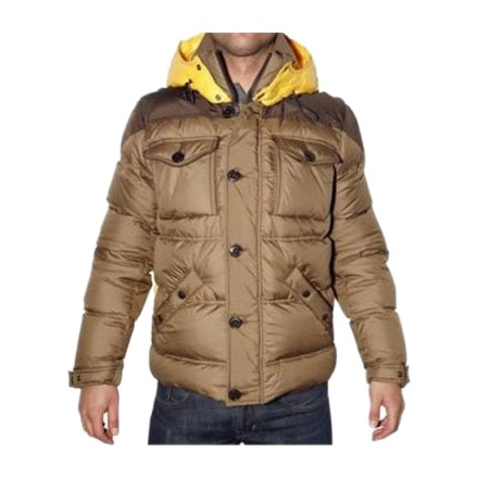 Moncler Two Tone Rentilly Yellow&Gold Jacket Men