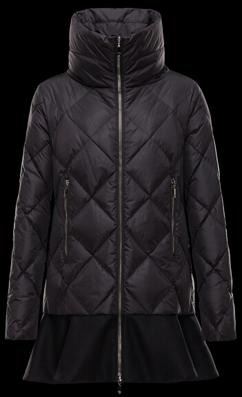 Moncler VOUGLANS Winter Coat Women Black Necklace