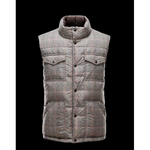 Moncler Vest Mens Fontaine Brown