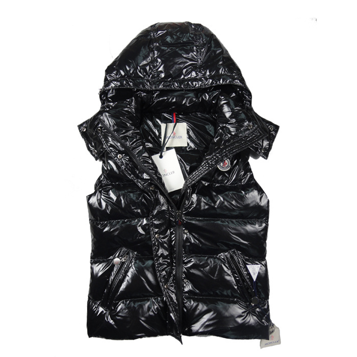 Moncler Vest Women Black Sale