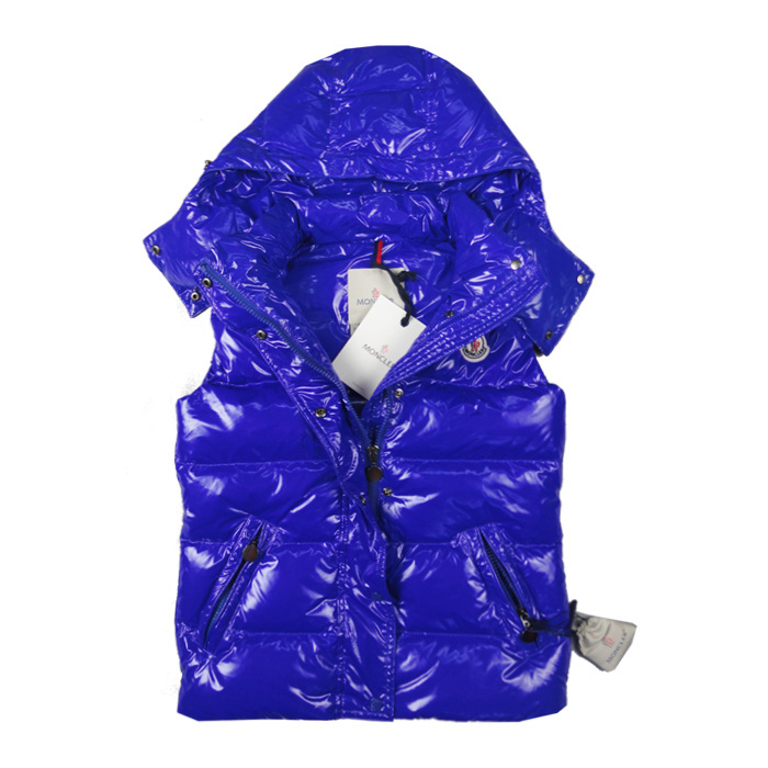 Moncler Vest Women Blue Sale