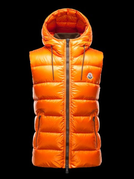 Moncler Jacket Bartholome Hood Men Vest Orange