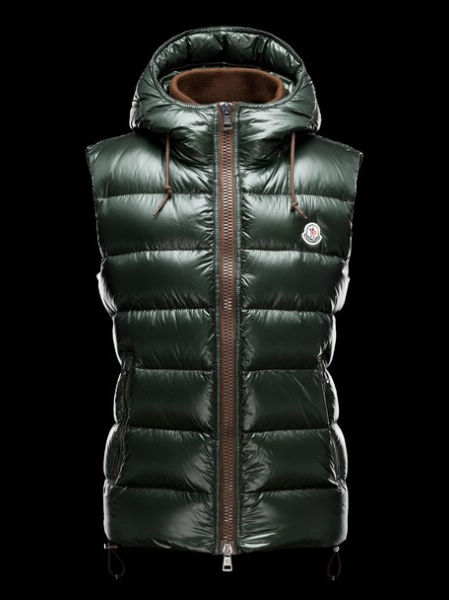 Moncler Jacket Bartholome Hood Men Vest Green
