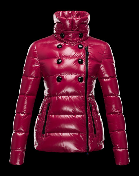Moncler Jackets Suede Woman Down Jacket Red Wine