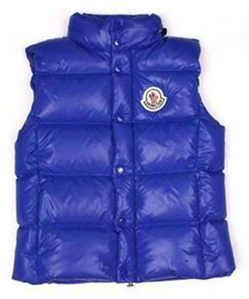 Moncler Vests Women Quilted Warmer Body Navy Blue
