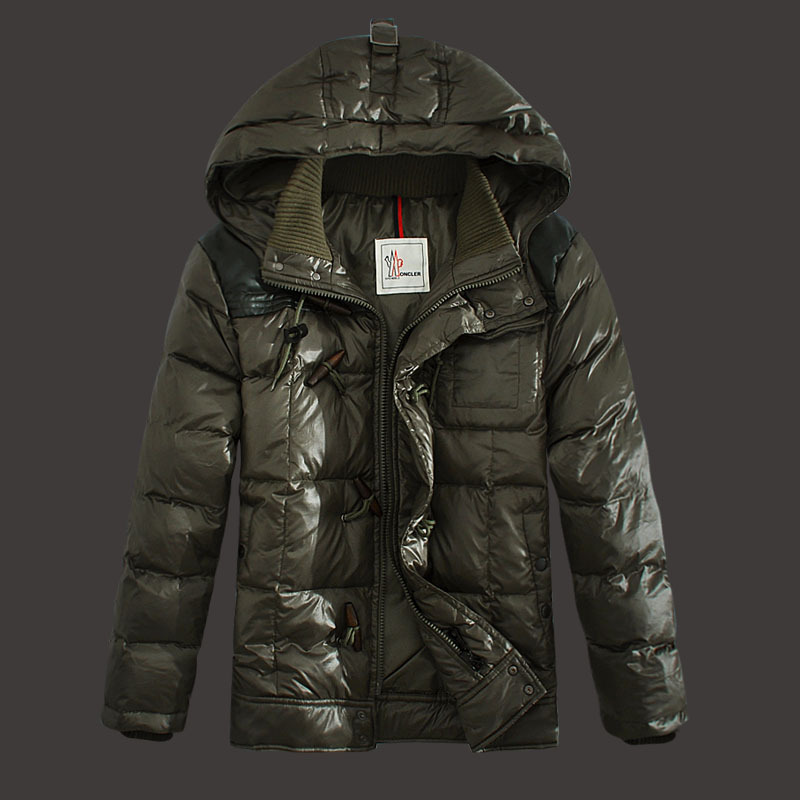 Moncler Virgile Men Down Jackets Hooded Army Green