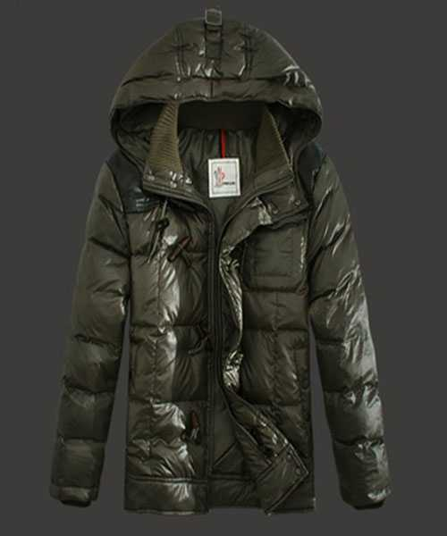 Moncler Virgile Mens Down Jackets Hooded Army Green