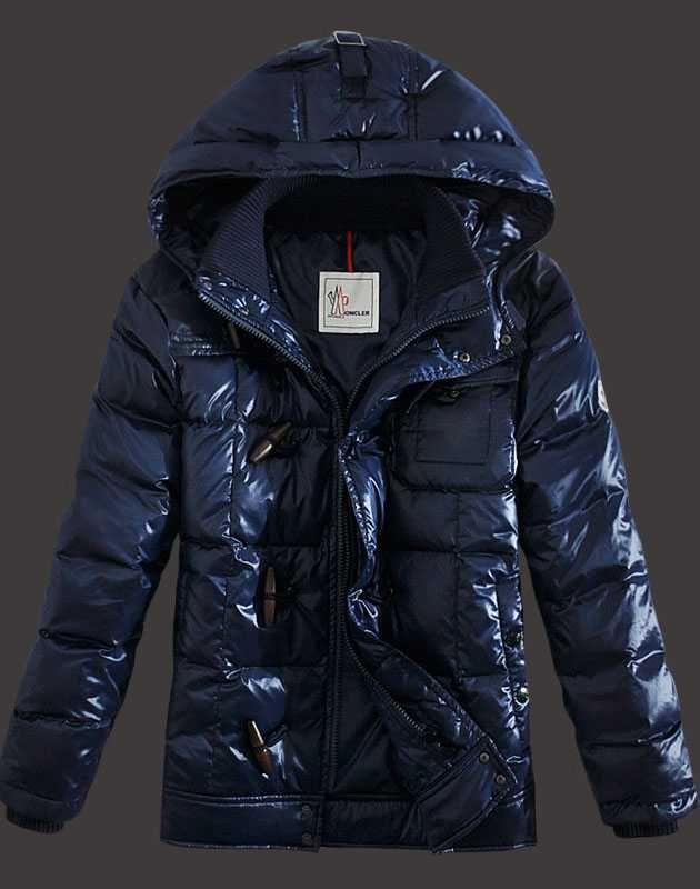 Moncler Virgile Mens Down Jackets Hooded Blue