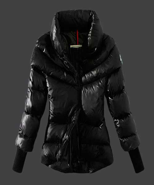 Moncler Windproof Women Jackets Stand Collar Black