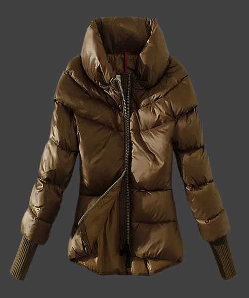 Moncler Windproof Women Jackets Stand Collar Green Card