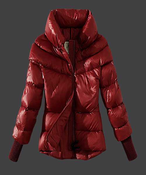 Moncler Windproof Women Jackets Stand Collar Red