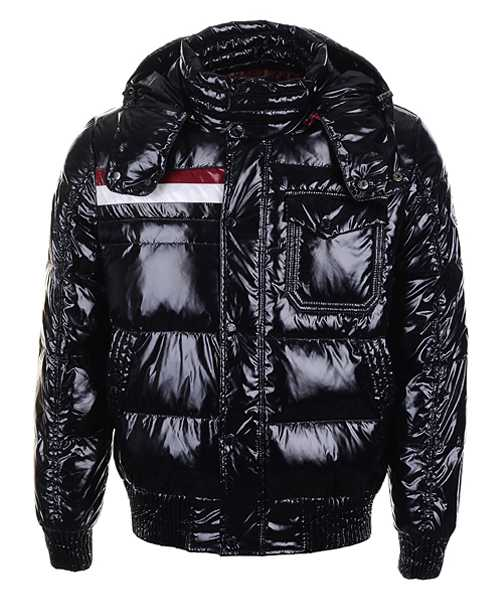 Moncler Winter Classic Mens Jackets Fabric Smooth Shiny Black