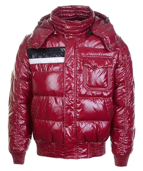Moncler Winter Classic Mens Jackets Fabric Smooth Shiny Red