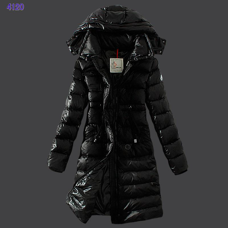 Moncler Winter Down Coat Women Hooded Slim Black