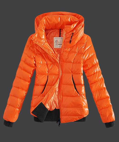 Moncler Winter Jackets Women Zip Stand Collar Yellow