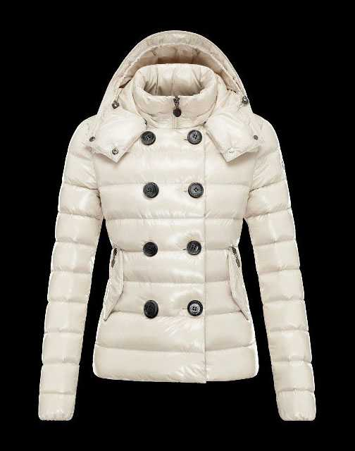 Moncler Women Down Double Breasted Jackets White