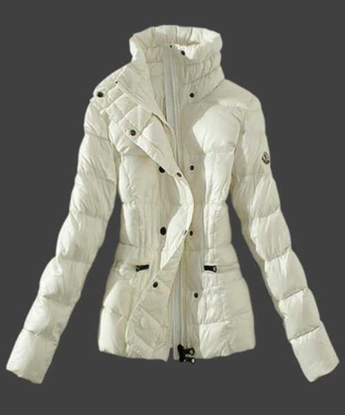 Moncler Women Down Jackets Stand Collar White
