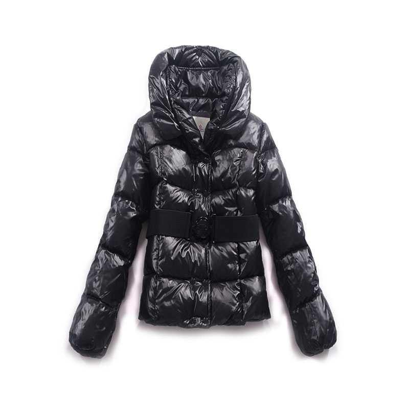 Moncler Women Jackets Double Breasted Decorative Belt Black