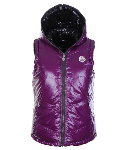 Moncler Women Sleeveless Vests Double Sided Violet