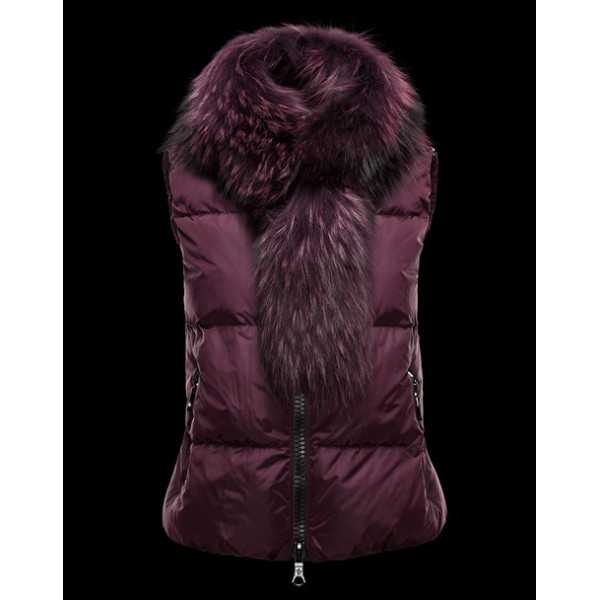 Moncler Women Vest Cer Purple