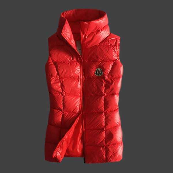 Moncler Women Vest Sleeveless Red