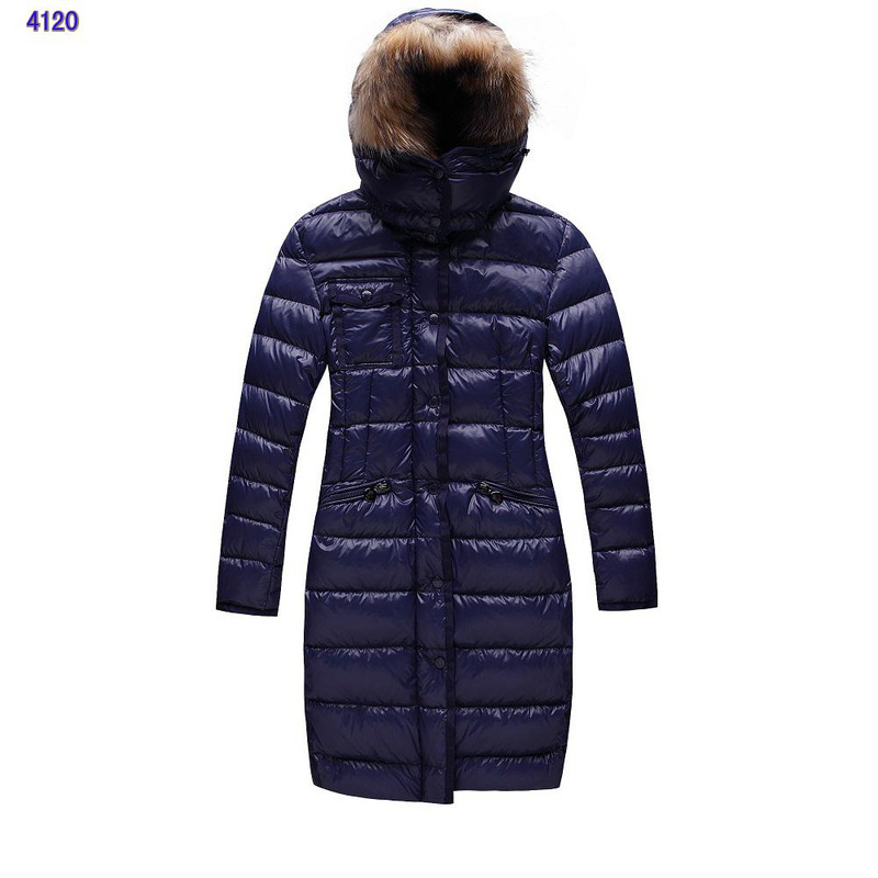 Moncler Womens Coats Collars Blue