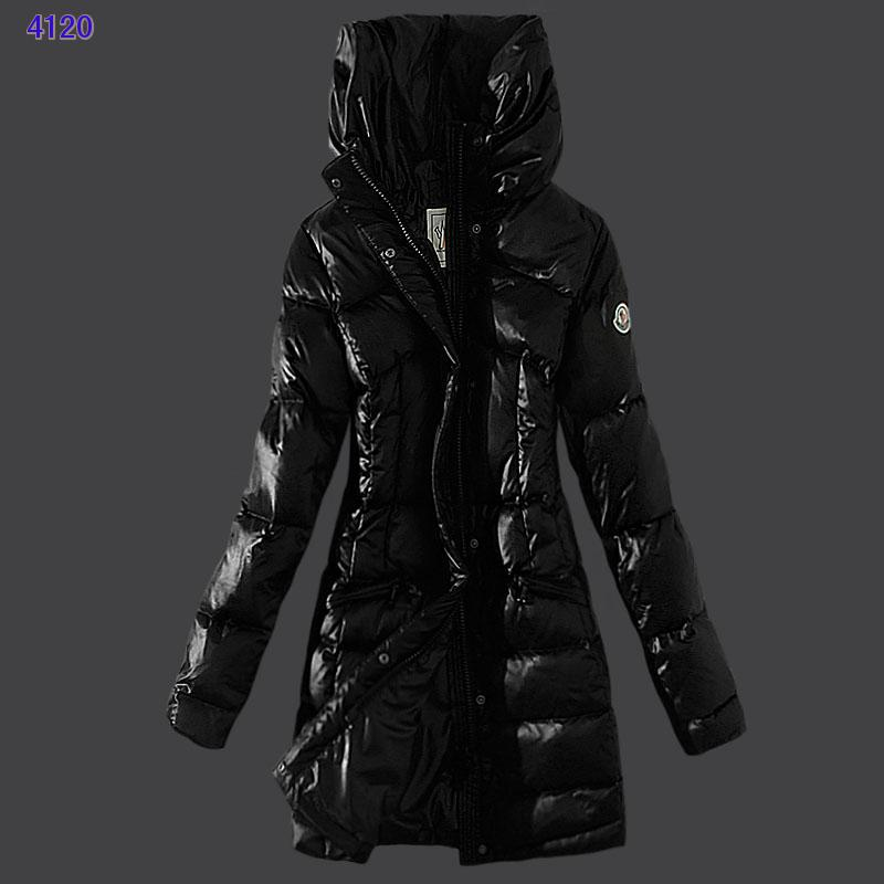 Moncler Womens Coats Stand Collar Windproof Black