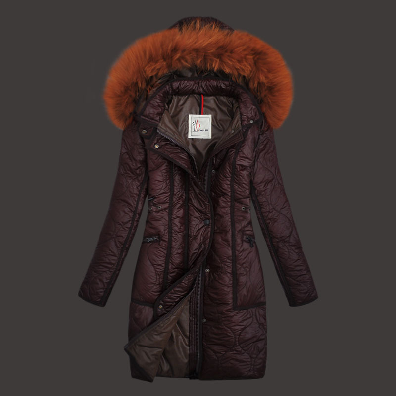Moncler Womens Down Coats Windproof brown