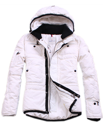Moncler men winter collar hooded jackets White