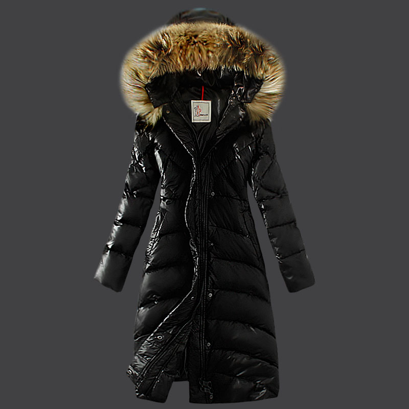 Moncler Women's Coats Winter Fur Hat Black