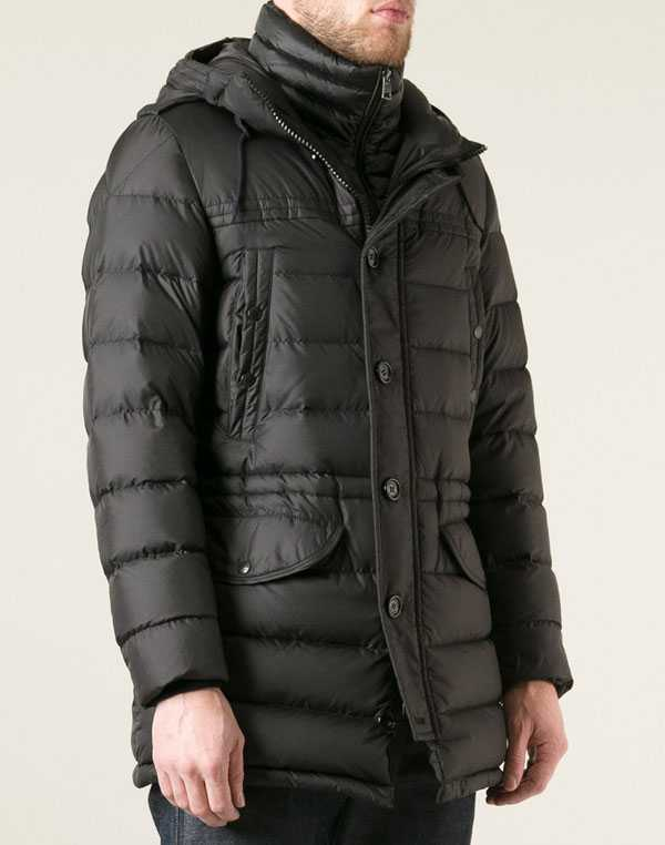 New Moncler Coats Men With Mock Collar Black