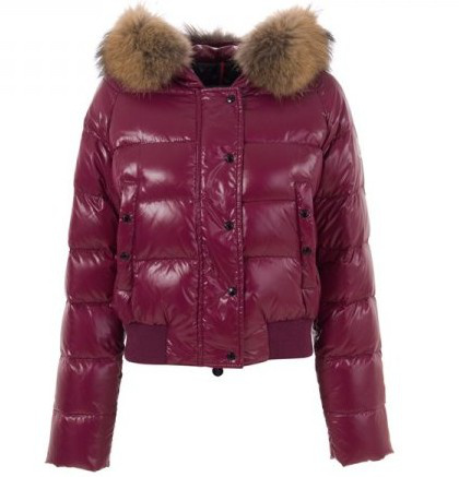 Moncler Women Down Jackets Red Wine