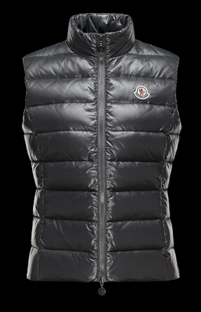Moncler Women's Gray Sleeveless Jacket