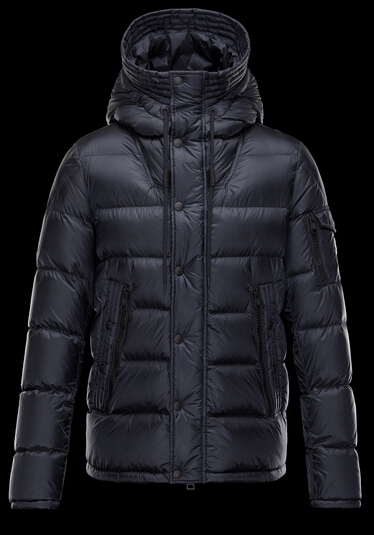 Moncler Men's Down Coat Hooded Parka Blue
