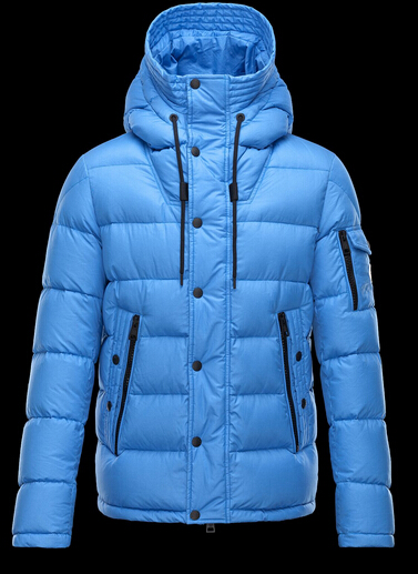 Moncler Men's Down Jacket Hooded Parka Blue
