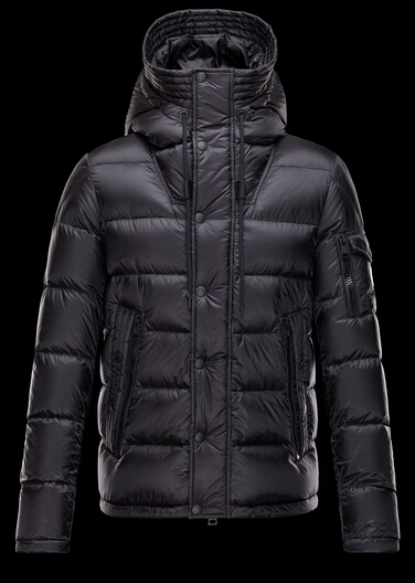 Moncler Men's Down Jacket Hooded Parka Black