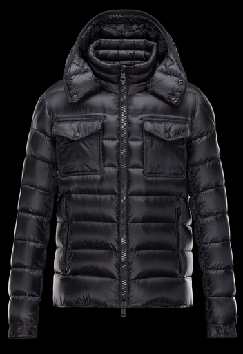 Moncler Men's Hooded Down Jacket Black