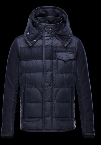 Moncler Jackets Ryan Men's Hooded Jacket Blue
