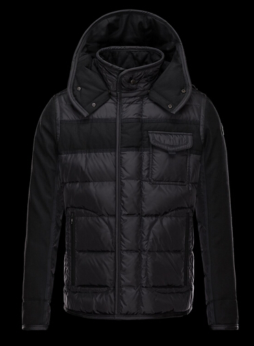 Moncler Ryan Men Jacket Black Hooded Jacket