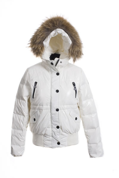 Price Moncler Women Down Jackets White Fur Hood