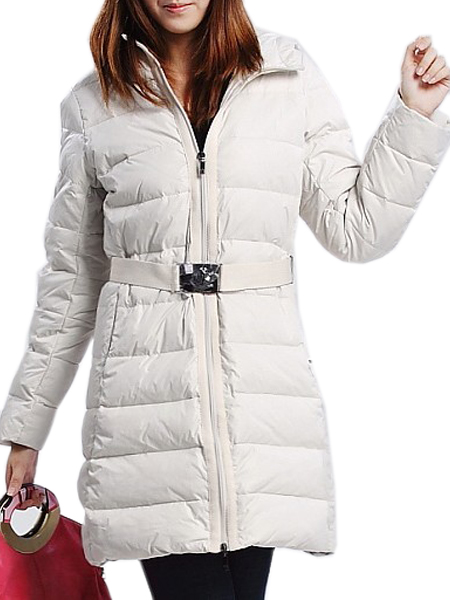 Price Moncler long coat white women's