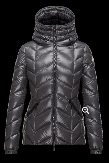 Moncler Women's Down Jacket BADETE Hooded Jacket Gray