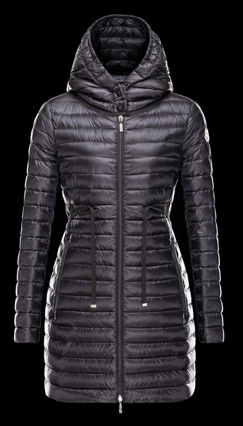 Moncler Coat BARBEL Hooded Down Jacket Long Woman Black