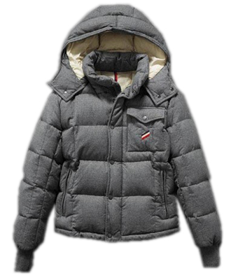 Moncler Reynold Men's Hooded Down Jacket Gray