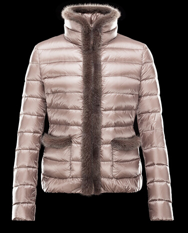 Moncler Women's Jacket TEMPLE Down Jacket Beige