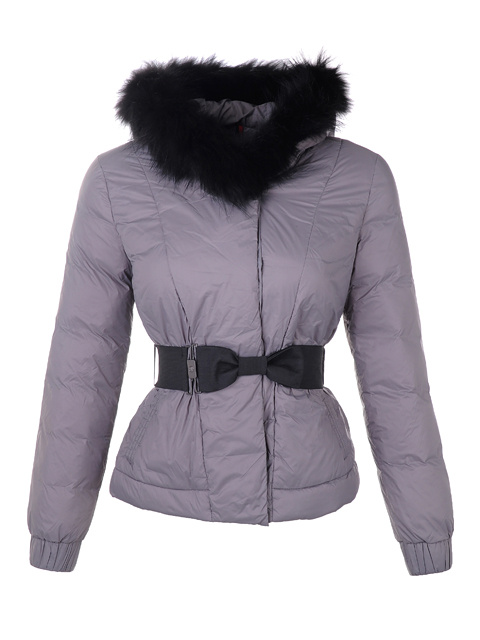Moncler Down Jacket Women Long Sleeve Purple