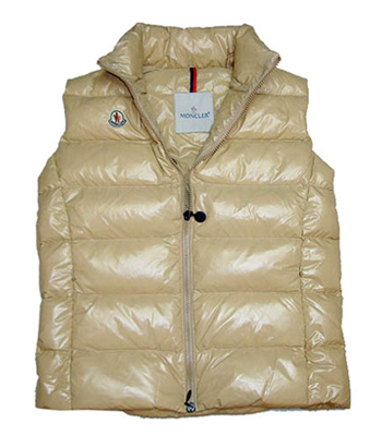 Moncler Women's Sleeveless Jacket Beige single-breasted