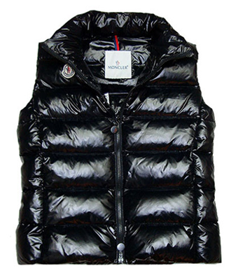 Moncler Women's Sleeveless Jacket Black single-breasted
