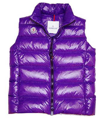 Moncler Women's jacket single sleeve purple single-breasted